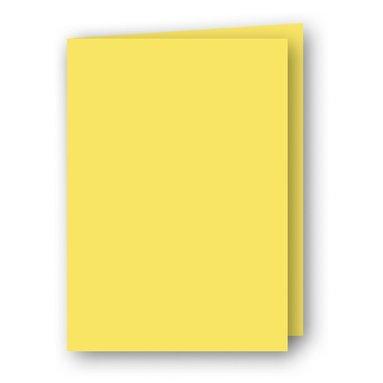 Kort A6 dubbla stående 5-pack gul