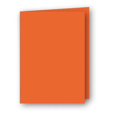 Kort A6 dubbla stående 5-pack orange