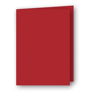 Kort A6 dubbla stående 5-pack röd