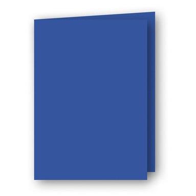 Kort A6 dubbla stående 5-pack klarblå