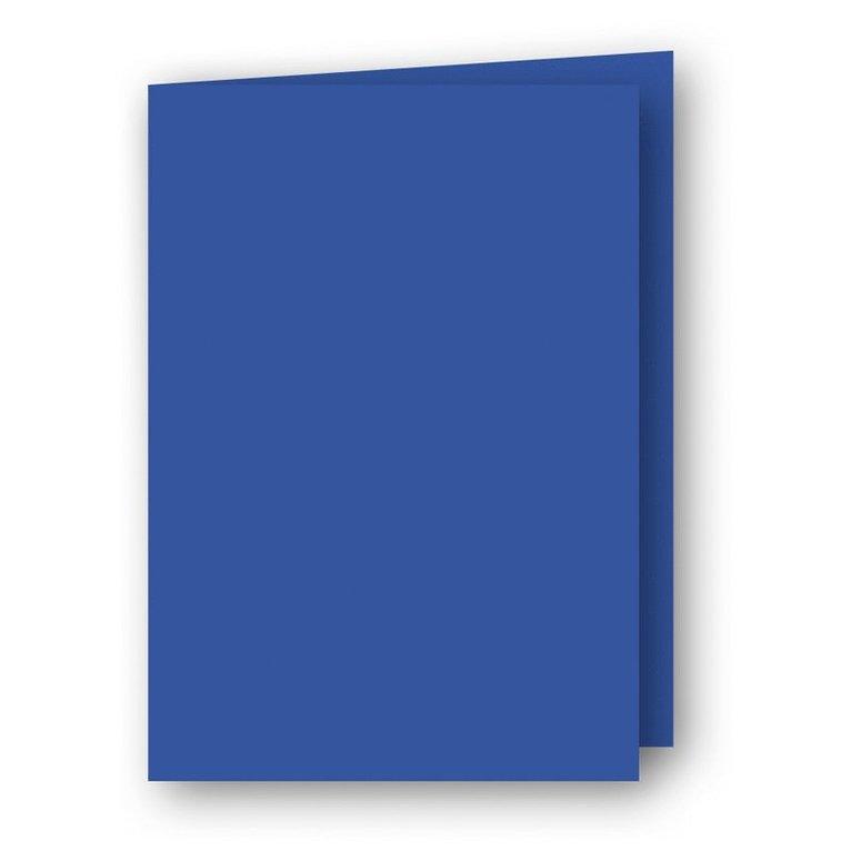 Kort A6 dubbla stående 5-pack klarblå 1