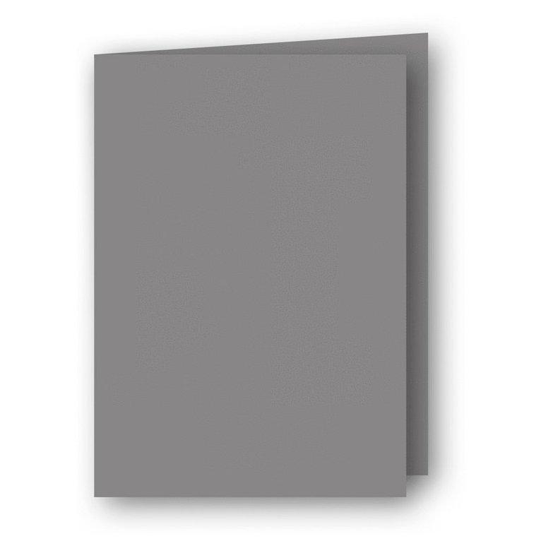 Kort A6 dubbla stående 5-pack grå 1