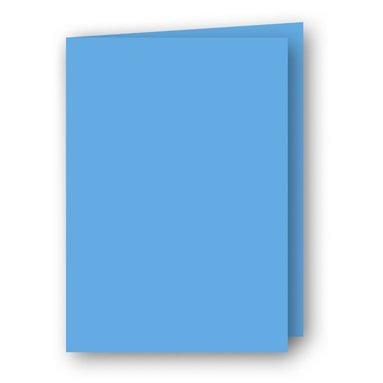 Kort A6 dubbla stående 5-pack azurblå