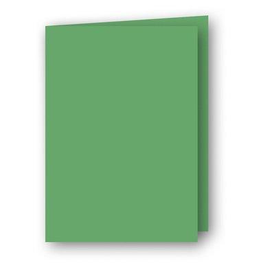 Kort A6 dubbla stående 5-pack gräsgrön