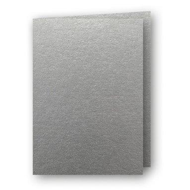 Kort A6 dubbla stående 5-pack silver