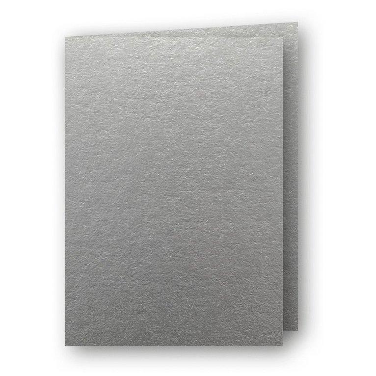 Kort A6 dubbla stående 5-pack silver 1