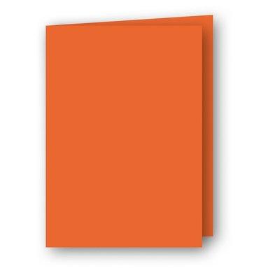 Kort A7 dubbla stående 5-pack orange