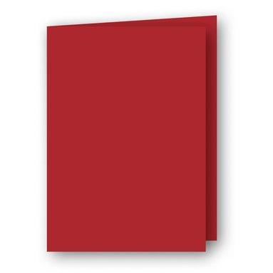 Kort A7 dubbla stående 5-pack röd
