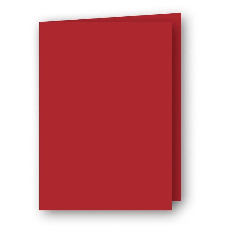 Kort A7 dubbla stående 5-pack röd 1