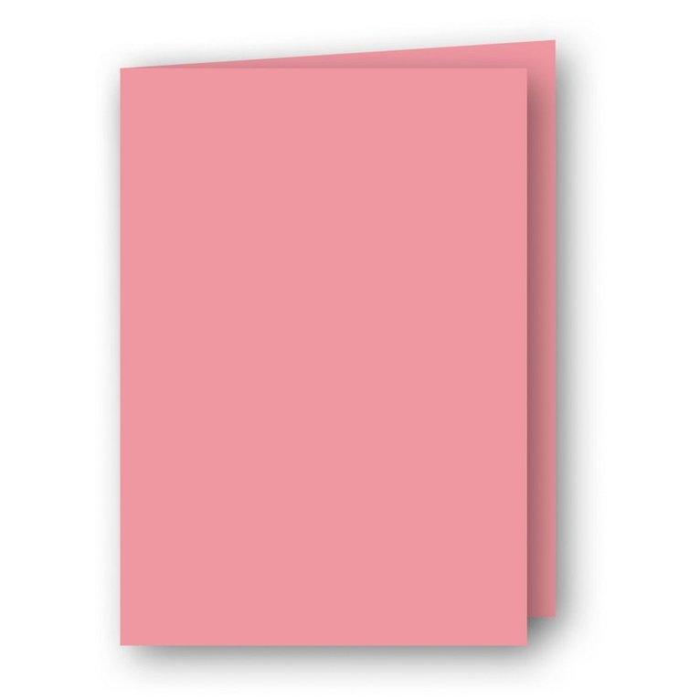 Kort A7 dubbla stående 5-pack rosa 1
