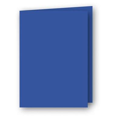 Kort A7 dubbla stående 5-pack klarblå
