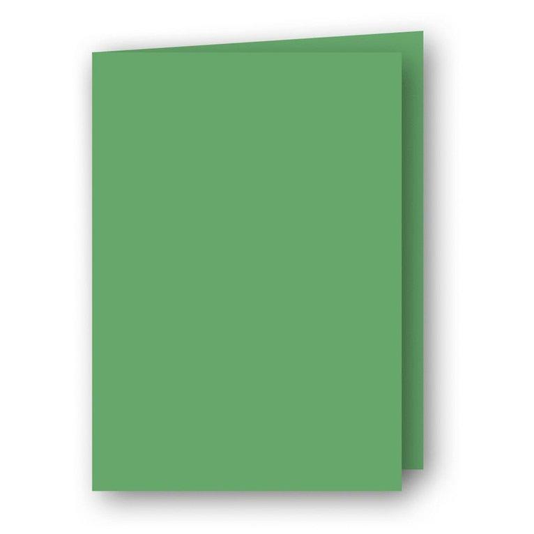 Kort A7 dubbla stående 5-pack gräsgrön 1