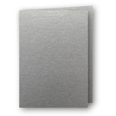Kort A7 dubbla stående 5-pack silver