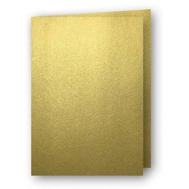 Kort A7 dubbla stående 5-pack guld