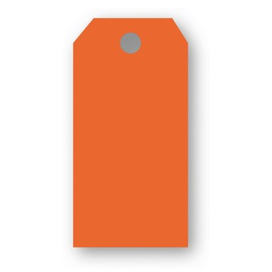 Adresskort 10-pack orange