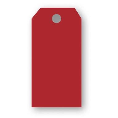 Adresskort 10-pack röd