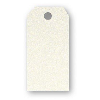 Adresskort 10-pack pärlemor creme
