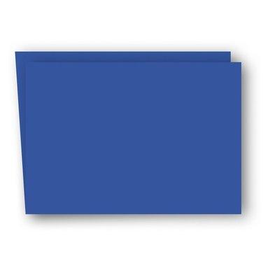 Kort A6 dubbla liggande 5-pack klarblå