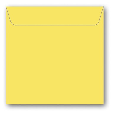 Kuvert kvadrat 5-pack gul