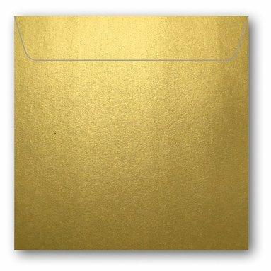 Kuvert kvadrat 5-pack guld