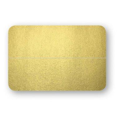 Placeringskort dubbla 10-pack guld