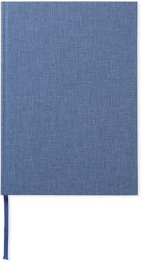 Anteckningsbok A4 linjerad jeansblå