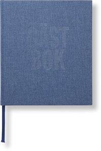 Gästbok 210x240mm jeansblå