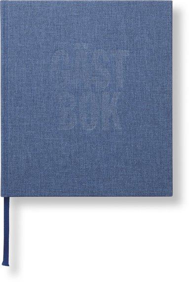 Gästbok 210x240mm jeansblå 1
