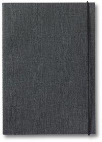 Skrivhäfte A5 med gummiband och sydd rygg