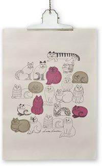 Print Lisa Larson katt 50x70cm
