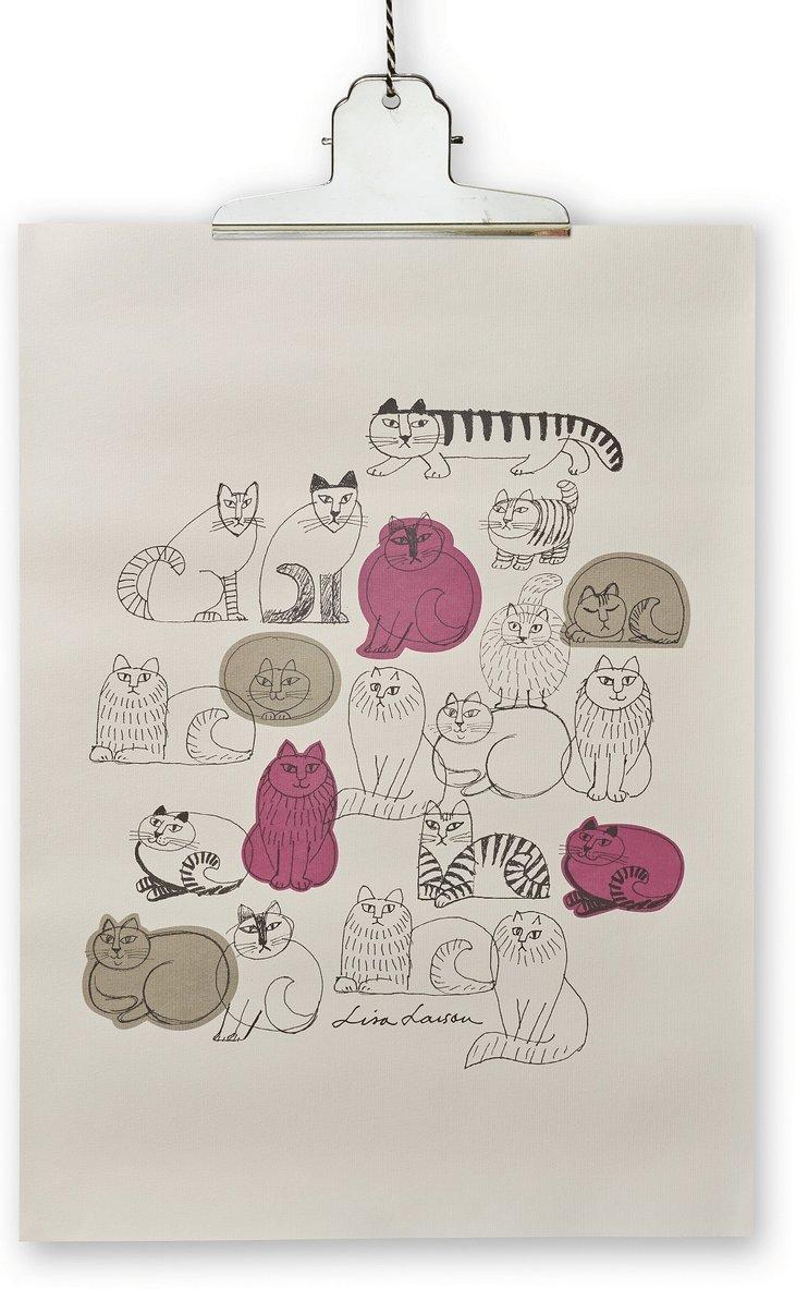 Print Lisa Larson katt 50x70cm 1