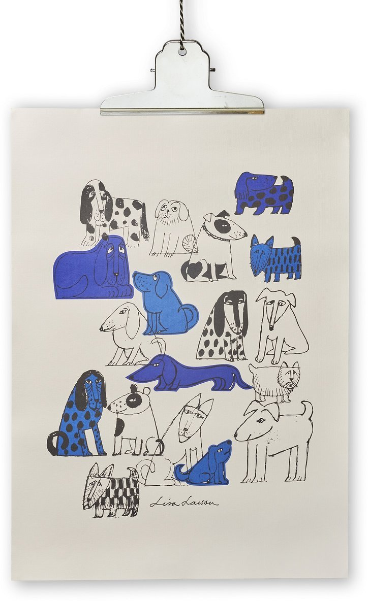 Print Lisa Larson hund 50x70cm 1