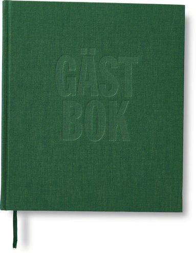 Gästbok 210x240mm 150 blad grön 1