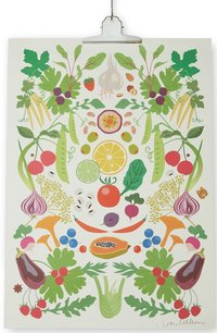 Print Våra grönsaker 50x70cm