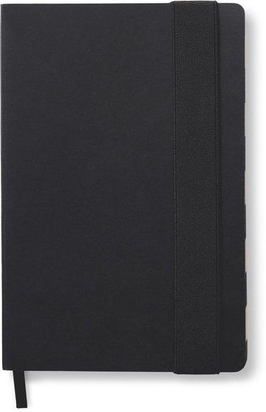 Anteckningsbok kraft prickad, svart/vit randigt snitt, svart 1