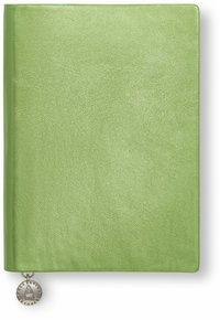 Anteckningsbok A6 linjerad mjuk metallicgrön
