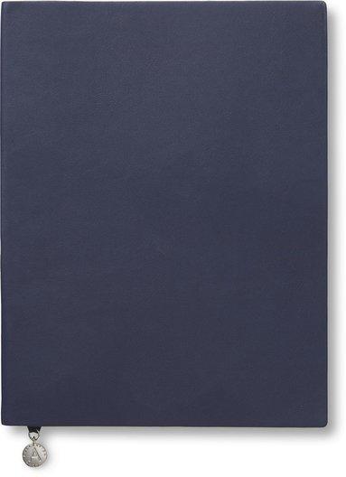 Anteckningsbok 19x25cm linjerad mjuk marinblå 1
