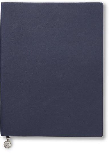 Anteckningsbok 19x25cm olinjerad mjuk marinblå 1