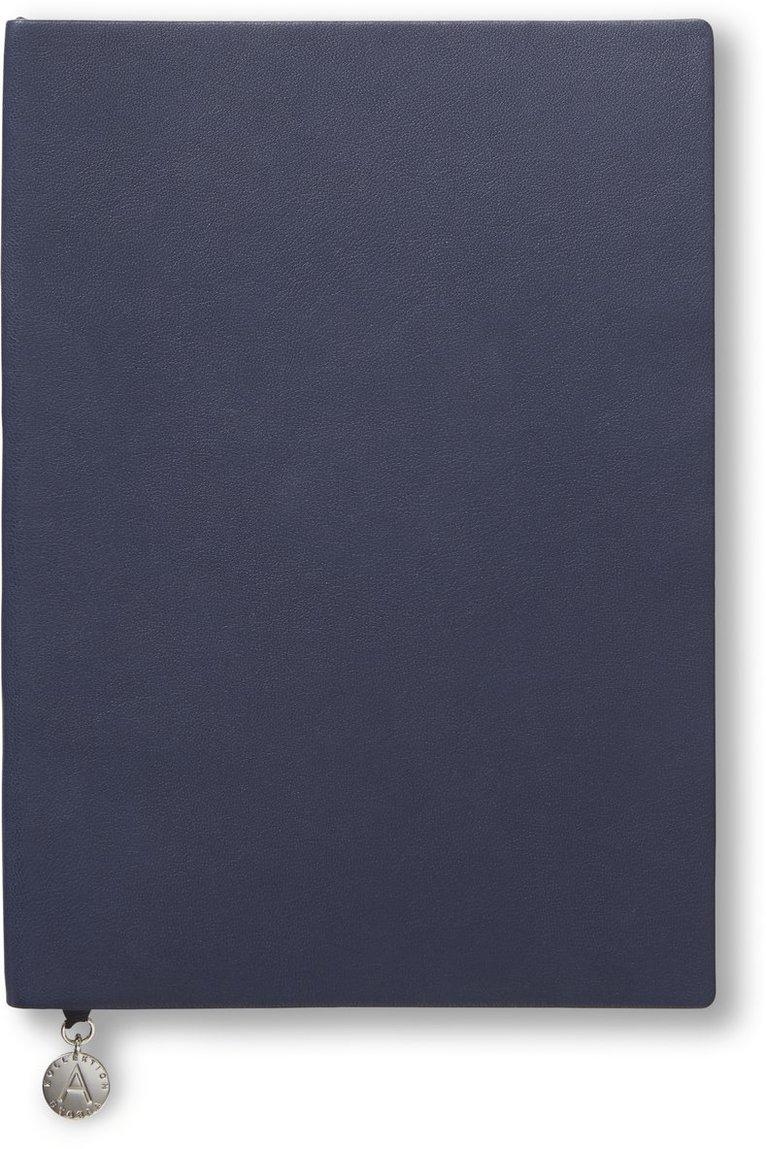 Anteckningsbok A5 linjerad mjuk marinblå 1