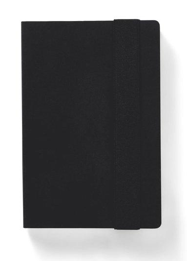Anteckningsbok linjerad kraft svart 1