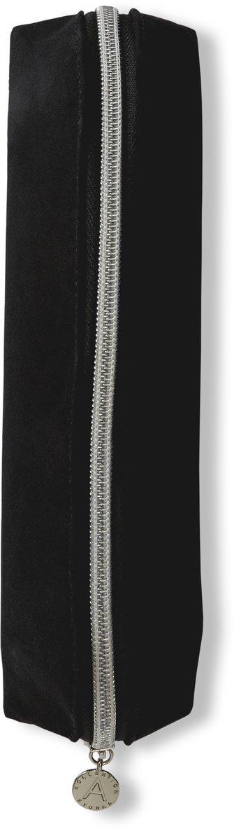 Pennfodral trekantigt textil svart