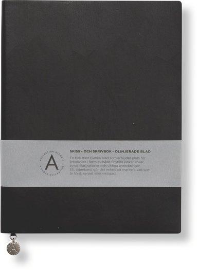 Anteckningsbok 19x25cm olinjerad mjuk pärm svart 1