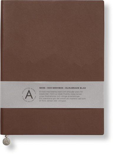 Anteckningsbok 19x25cm olinjerad mjuk pärm, cognac 1