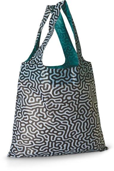 Tygkasse polyester mönster svart/vit 1