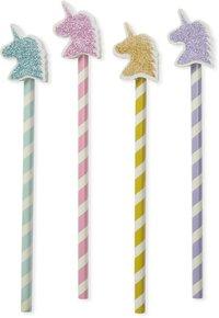 Blyertspenna med suddtopp glitter Unicorn