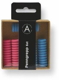 Penngrepp 6-pack blå/rosa