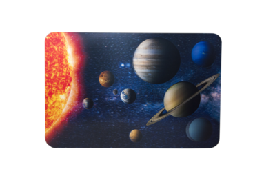 Skrivbordsunderlägg 3D World rymden