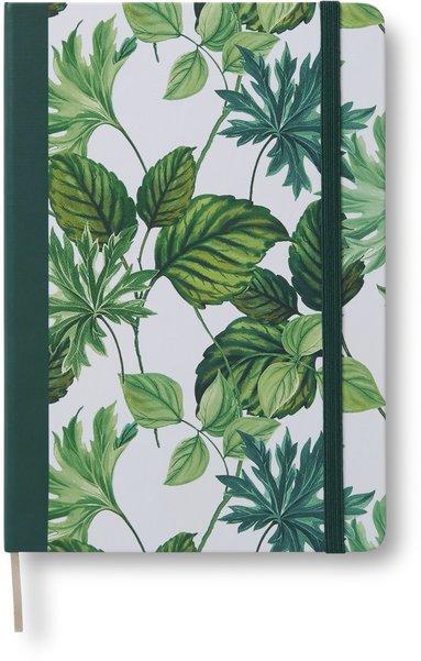 Anteckningsbok A5 linjerat gröna blad