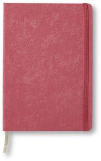Anteckningsbok A5 linjerat resårband rosa