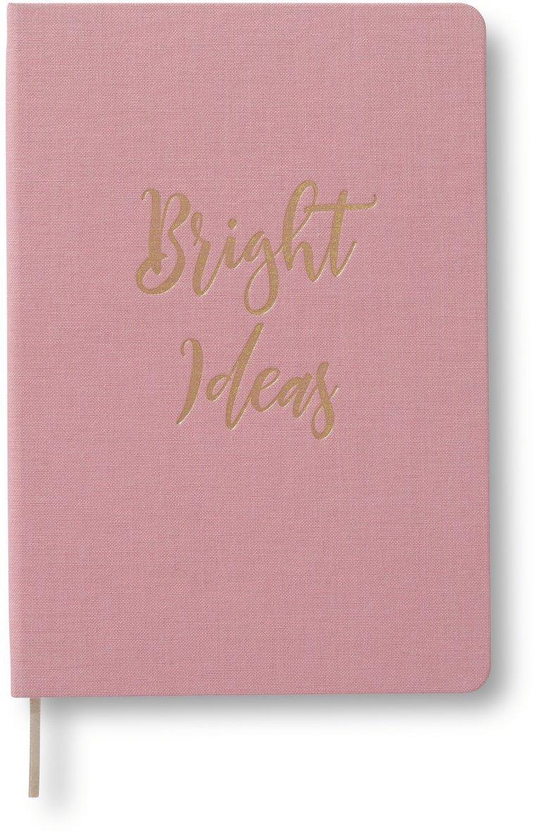 """Anteckningsbok A5 olinjerat """"Bright Ideas"""" rosa 1"""